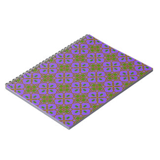 Modelo de estrella púrpura libros de apuntes