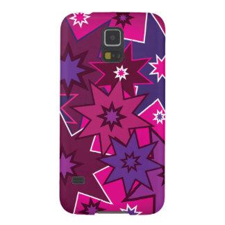 Modelo de estrella púrpura rosado femenino de la carcasas para galaxy s5