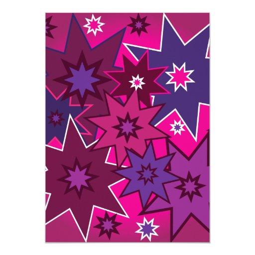 Modelo de estrella púrpura rosado femenino de la comunicado