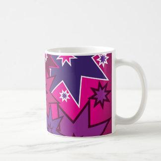 Modelo de estrella púrpura rosado femenino de la taza clásica