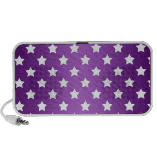 Modelo de estrella púrpura y blanco mini altavoz