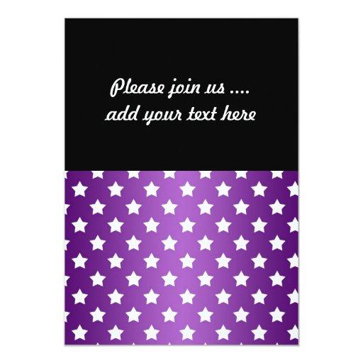 Modelo de estrella púrpura y blanco comunicado