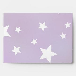 Modelo de estrella púrpura y blanco