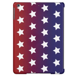 Modelo de estrella roja, blanca y azul funda para iPad air