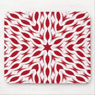 modelo de estrella rojo del navidad de la hierbabu alfombrillas de ratones