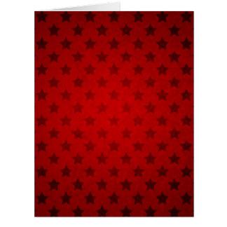 Modelo de estrella rojo tarjeta de felicitación grande