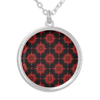 Modelo de estrella rojo y negro joyeria personalizada