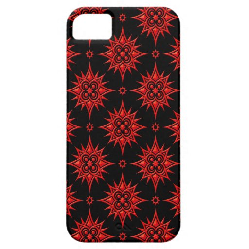Modelo de estrella rojo y negro iPhone 5 funda