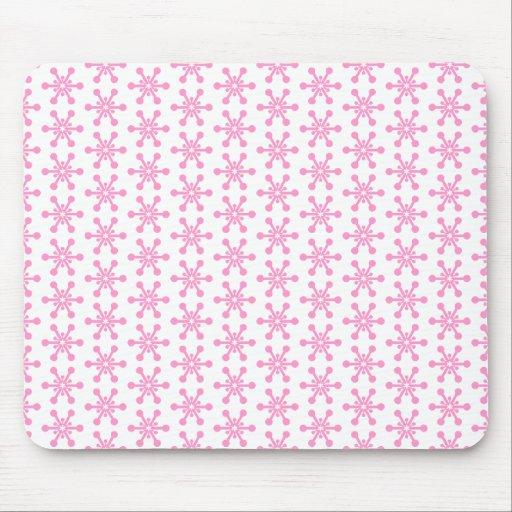 Modelo de estrella - rosa en blanco alfombrilla de ratones