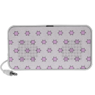 Modelo de estrella, rosado iPhone altavoz
