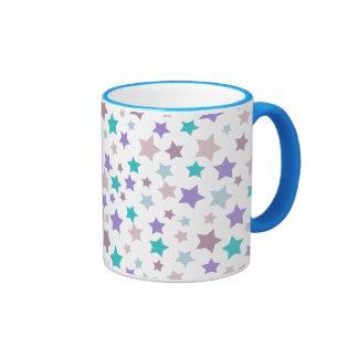 Modelo de estrella - rosado púrpura y azul en taza de dos colores