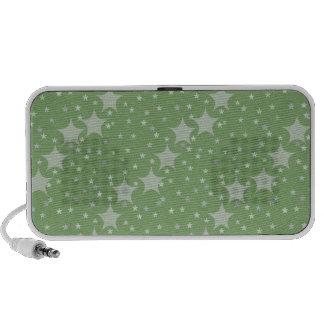 Modelo de estrella verde bonito mp3 altavoz