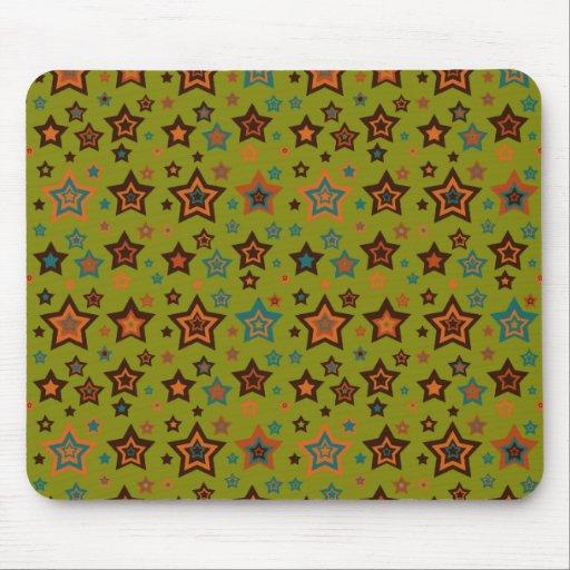 Modelo de estrella verde enrrollado tapete de ratón