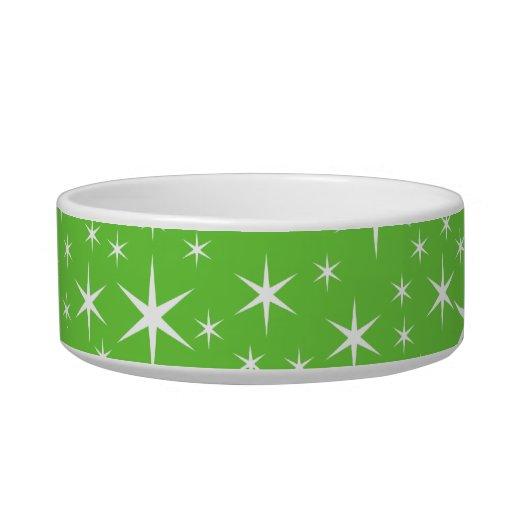 Modelo de estrella verde y blanco tazones para gatos