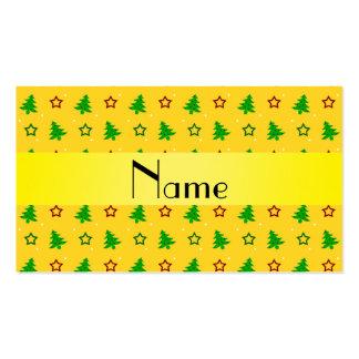 Modelo de estrellas amarillo conocido personalizad tarjetas personales