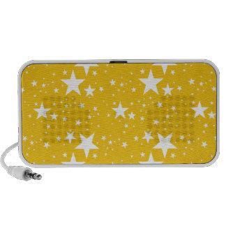 Modelo de estrellas amarillo y blanco iPod altavoces