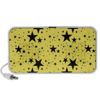Modelo de estrellas amarillo y negro altavoz de viajar