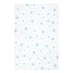 Modelo de estrellas azul claro papelería
