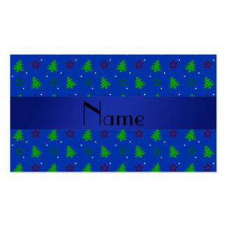 Modelo de estrellas azul conocido personalizado de tarjetas de visita