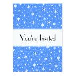 Modelo de estrellas azul y blanco brillante invitación 12,7 x 17,8 cm