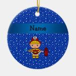 Modelo de estrellas azules conocido personalizado  ornamento para arbol de navidad