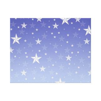Modelo de estrellas blanco azul de la pendiente impresiones en lona