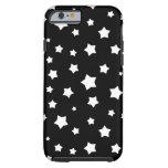 Modelo de estrellas blanco y negro funda de iPhone 6 tough