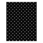 Modelo de estrellas blanco y negro plantillas de membrete