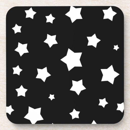 Modelo de estrellas blanco y negro posavasos