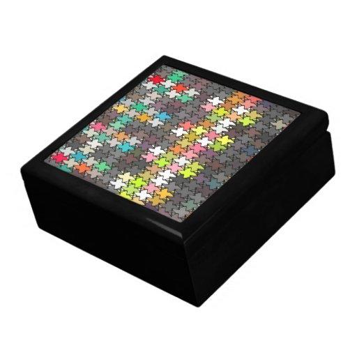 Modelo de estrellas colorido cajas de regalo