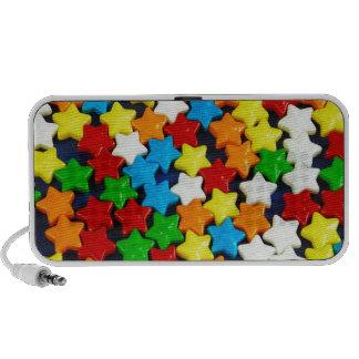 Modelo de estrellas colorido del caramelo portátil altavoz