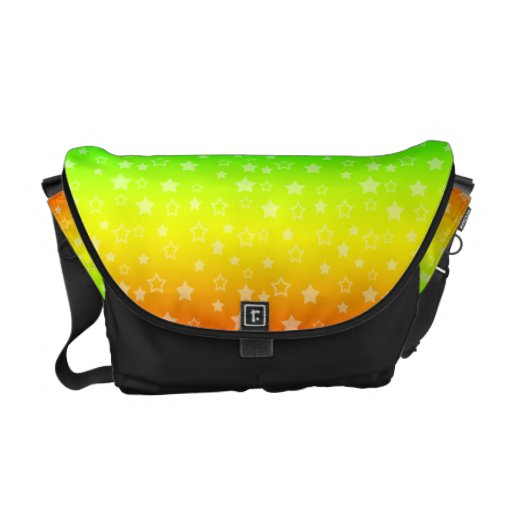 Modelo de estrellas del arco iris bolsas de mensajeria