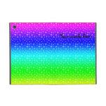 Modelo de estrellas del arco iris iPad mini cobertura