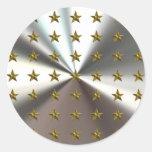 Modelo de estrellas del oro en los pegatinas de pl