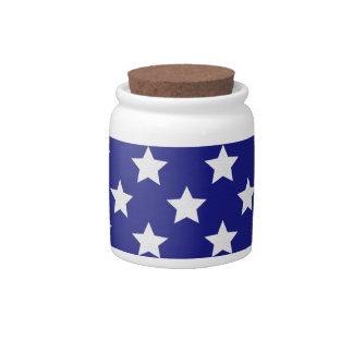 Modelo de estrellas del patriota jarras para caramelos