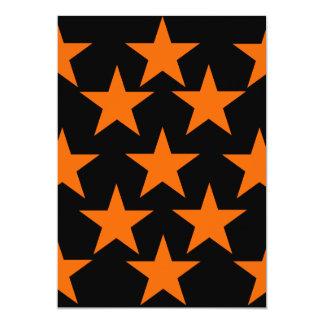 Modelo de estrellas estupendo anaranjado y negro invitación 12,7 x 17,8 cm