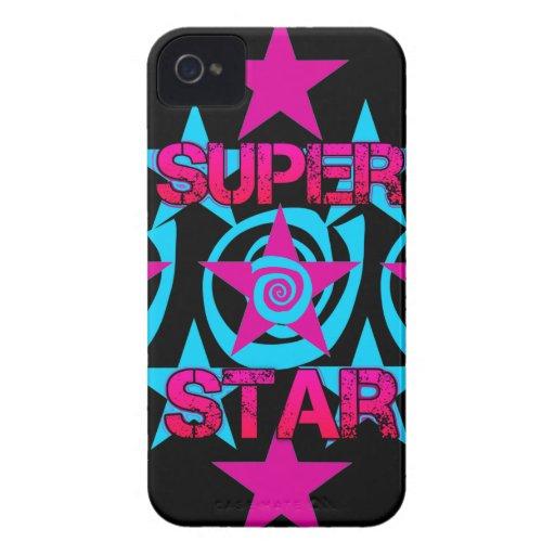 Modelo de estrellas estupendo de los remolinos del iPhone 4 cárcasas