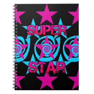 Modelo de estrellas estupendo de los remolinos del cuaderno