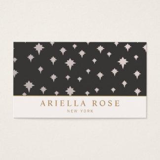 Modelo de estrellas exclusivo elegante de la plata tarjetas de visita