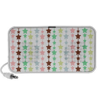 Modelo de estrellas multicolor elegante iPod altavoz