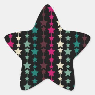 Modelo de estrellas multicolor elegante pegatina en forma de estrella