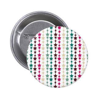 Modelo de estrellas multicolor elegante pin