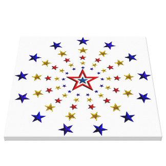 Modelo de estrellas patrióticas impresión en lienzo