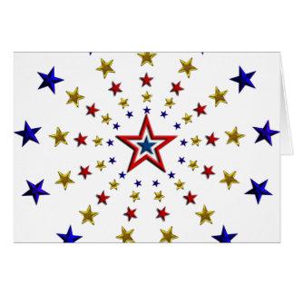 Modelo de estrellas patrióticas tarjeta pequeña