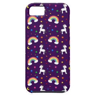 Modelo de estrellas púrpura de los corazones del funda para iPhone SE/5/5s