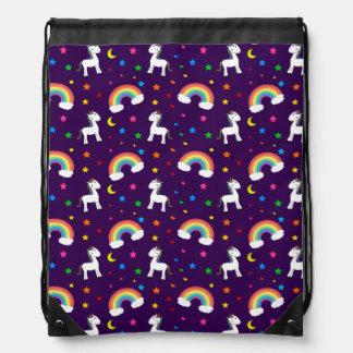 Modelo de estrellas púrpura de los corazones del u mochila
