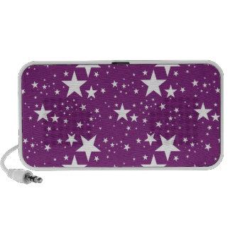 Modelo de estrellas púrpura y blanco laptop altavoz