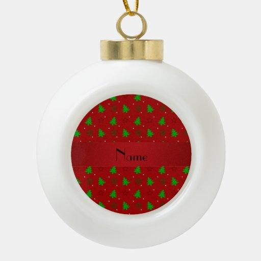 Modelo de estrellas rojo conocido personalizado adorno de cerámica en forma de bola