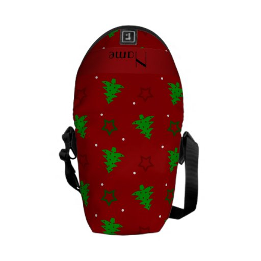 Modelo de estrellas rojo conocido personalizado de bolsas de mensajeria