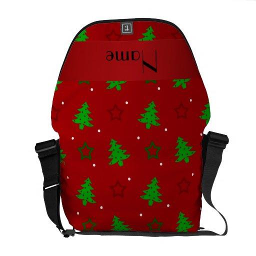 Modelo de estrellas rojo conocido personalizado de bolsas messenger